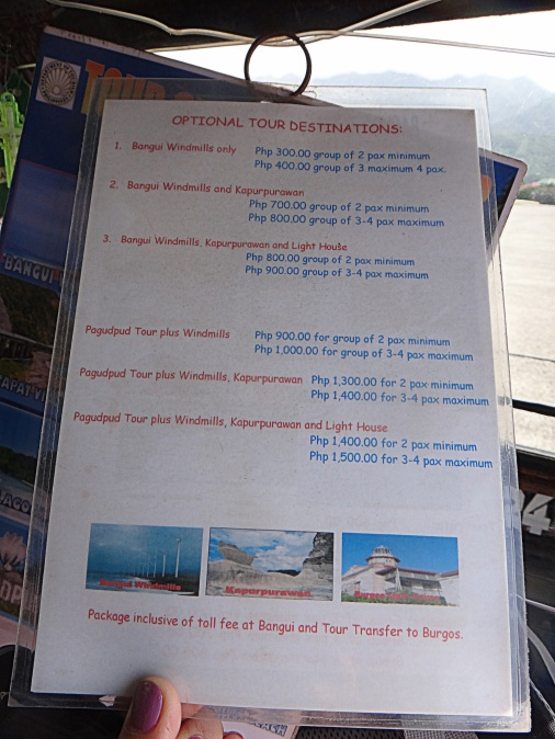 Pagudpud Tour Package Rates