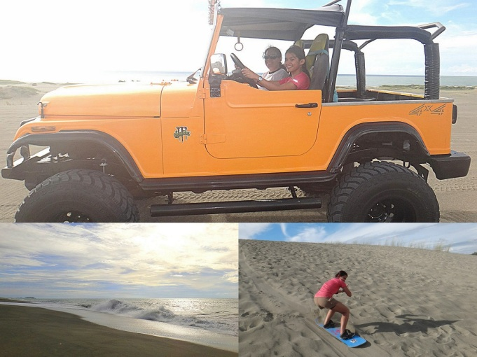 Paoay Sand Dunes. 4x4 Jeepney, Beach and Sandboarding. Ilocos Norte Backpacking Itinerary.