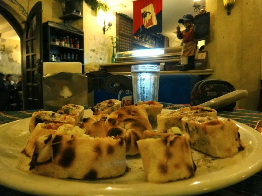 vegetarian pizza roll. Cafe Leona, Vigan