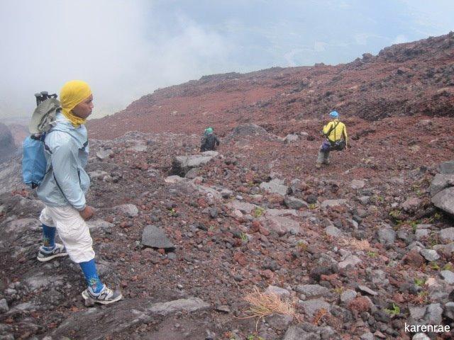 Loose Rocks. Mayon Climb. My Travel Digest