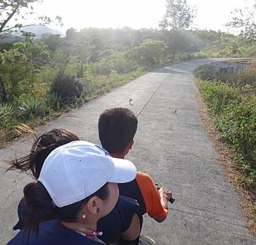 Habal-Habal Ride to Balinsasayao Lake. San Jose, Sibulan, Negros.