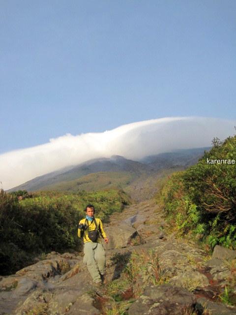 Gulley. Mayon Climb