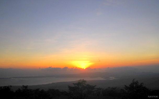 Mayon Summit Climb Sunset