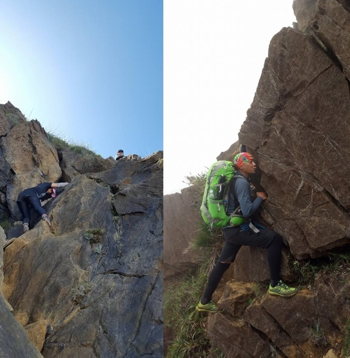 90 Degree Rock Wall and Kiss the Wall segment in Mt. Guiting-Guiting. Tragedy. Death. Crash Site