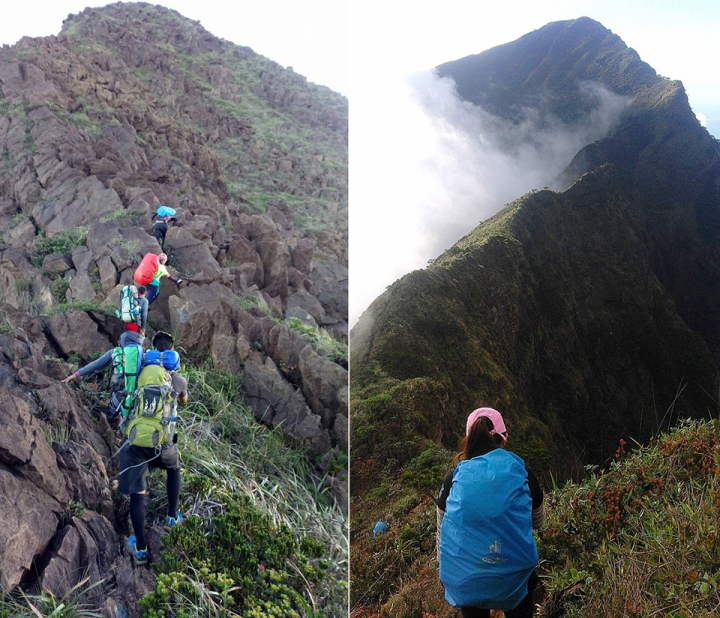 Boulders Path or Hillary Steps and Knife edge Ridge at Mt. Guiting-Guiting. Reverse Traverse Climb.