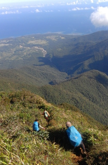 Downhill from Mayo's Peak to Tampayan River during our Mt. Guiting-Guiting Reverse Traverse Climb