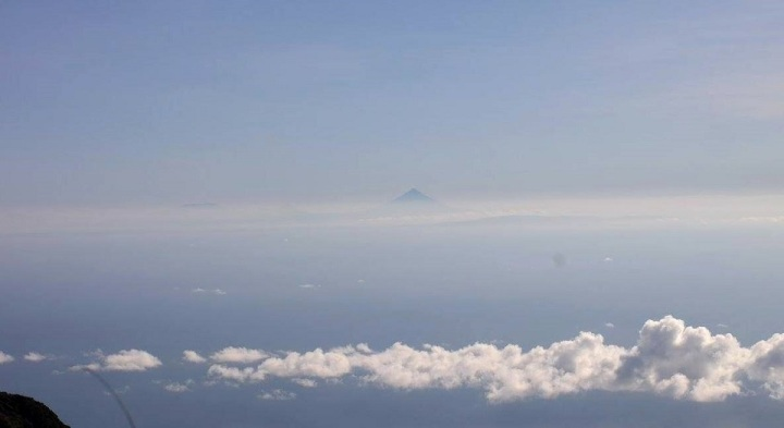 Silhouette of Mt. Mayon from Mt. Guiting-Guiting Summit
