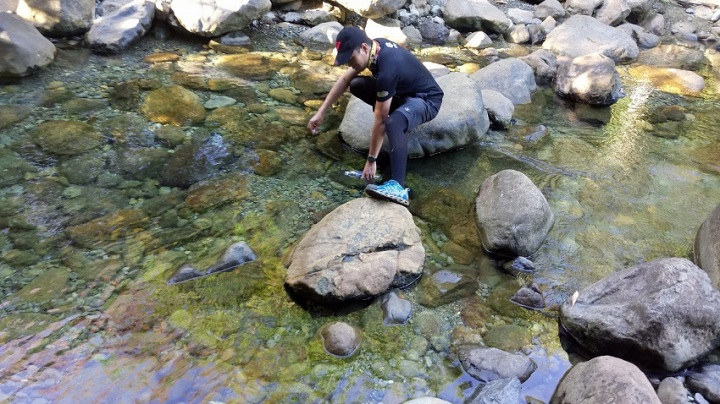 Olango River Water Source during a climb to Mt. Guiting-Guiting, Sibuyan.