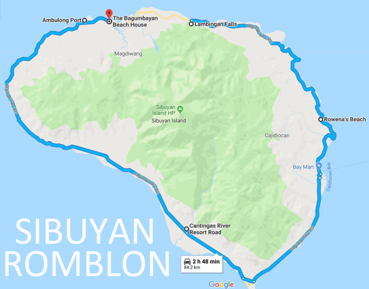Google Map of Sibuyan Circumferential Road. Things to do in Sibuyan. Top Tourist Spots Sibuyan.